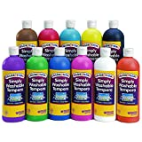 tempera paint neon - Colorations SWT16 Colorations Simply Washable Tempera Paint - 16 oz. (Pack of 11)