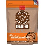 Cloud Star Grain Free Soft and Chewy Buddy Biscuits Dog Treats, Homestyle Peanut Butter, 5-Ounce