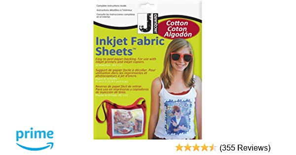 photograph relating to Printable Fabric Roll referred to as Jacquard Ink Jet Material 8.5 x 11 Cotton Sheets (10 Pack)