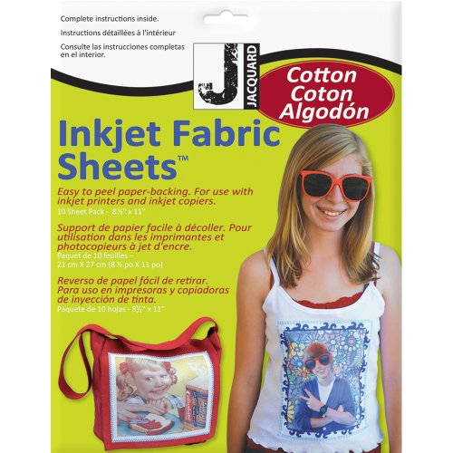 Jacquard Ink Jet Fabric 8.5'' x 11'' Cotton Sheets (10 -