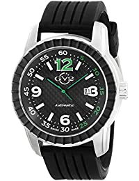 Lucky 7 Mens Swiss Automatic Black Rubber Strap Watch, (Model: 9304)