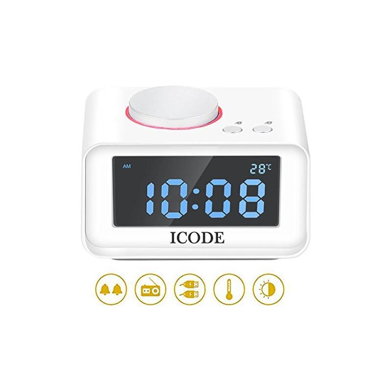 Digital Alarm Clock,-ICODE FM Radio Alar