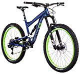 "Diamondback Bicycles Mission 1 Complete All Mountain Full Suspension 27.5"" Bike, Blue, 17""/Medium"