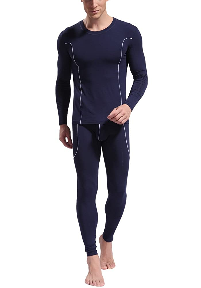 WARMQN Men's Ultra Soft Thermal Underwear Long Johns Set WJ3004