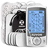 AUVON Dual Channel TENS Unit Muscle Stimulator Machine with 20 Modes, 2""