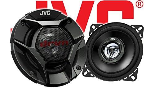 Einbauset Mercedes SL R107 Front JVC CS-DR420-10cm 2-Wege Koax-Lautsprecher