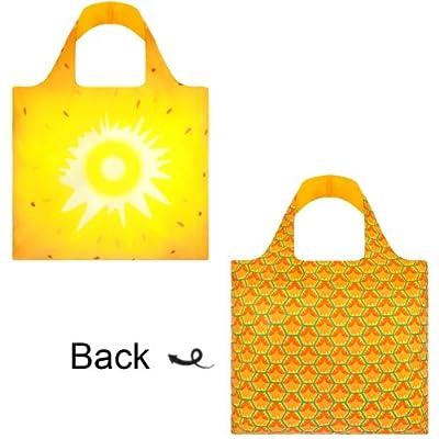 LOQI Frutti Pineapple Reusable Shopping Bag, Multicolor