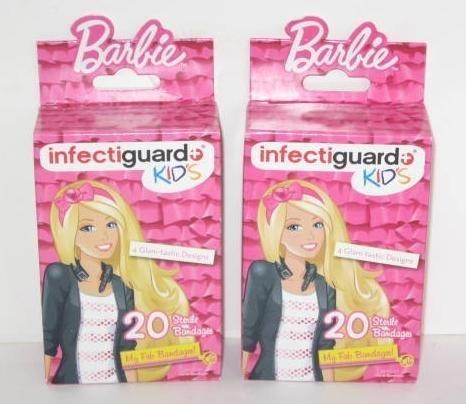 2 Boxes of Kids Barbie Bandages Bandaids - Latex Free