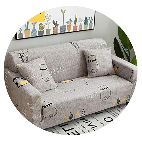 Amazon.com: Meet- fashion Striped White Bearl Sofa Cover ...