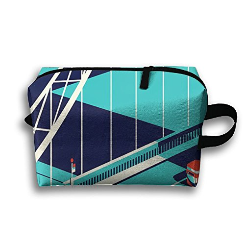 Bridge Road Receive Bag Toiletry Bag Canvas Wash Bag Foldable Multi-function Makeup Pouch Portable Storage Bag Travel Bag