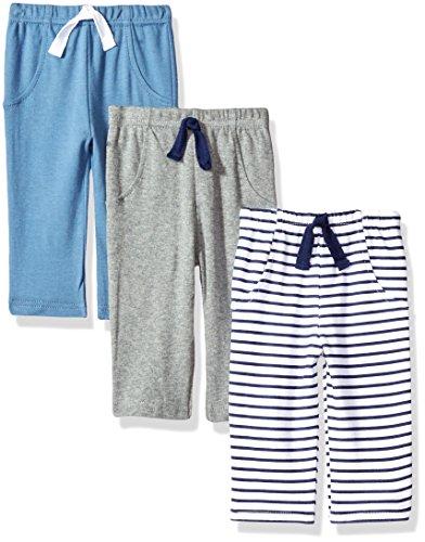 Hudson Baby Baby Cotton Pants, Blue Stripes, 18-24 Months