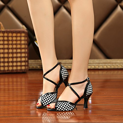 Minitoo ,  Damen Tanzschuhe Black-7.5cm Heel