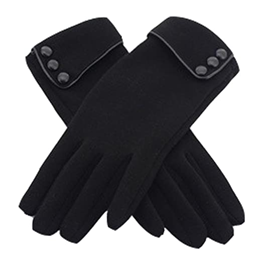 22f48ef484b AURNEW Women s Screen Gloves Warm Lined Thick Touch Warmer Winter Gloves  (black)