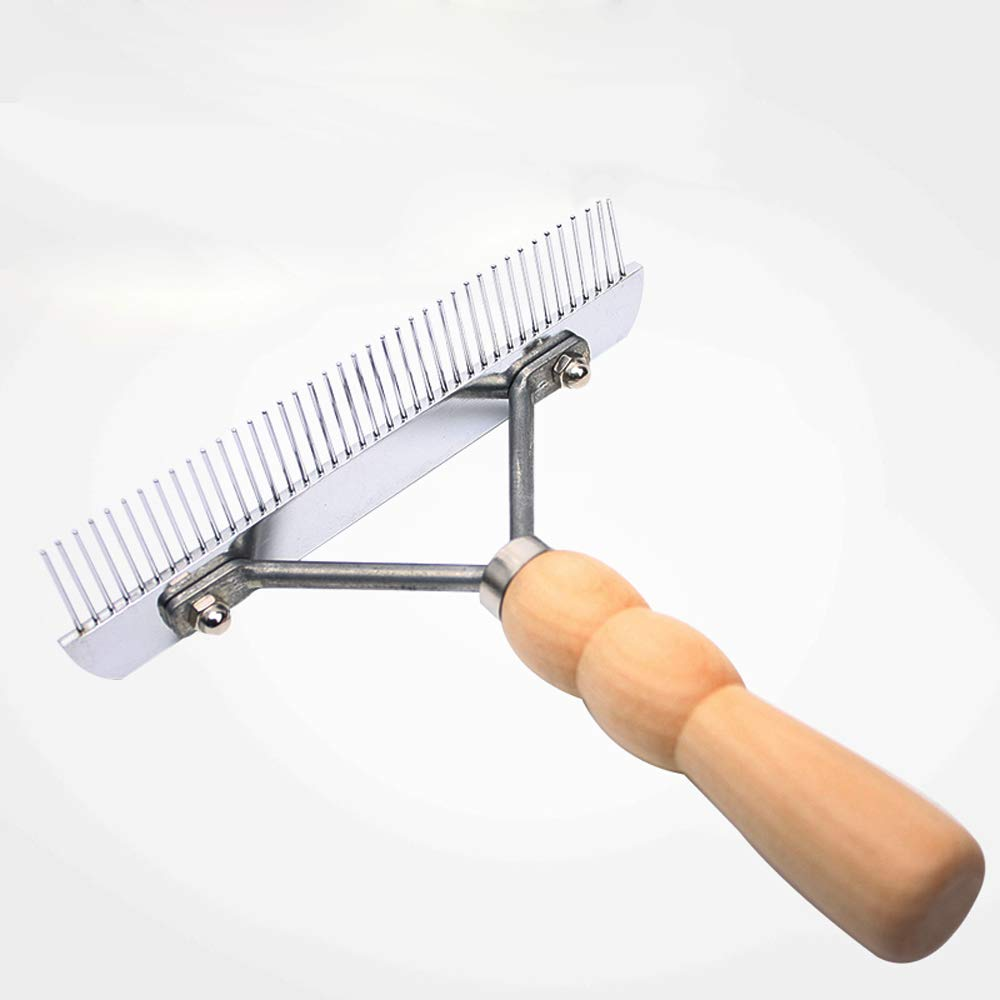 CICIN Pet Comb for Dogs Cats - Pet Grooming Rake Handheld Undercoat Grooming Tool for Long or Short Hair
