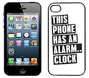 InCaseIt - This Phone Has An Alarm.. Hard Shell Case for iPhone 5 + Screen Protector BLACK