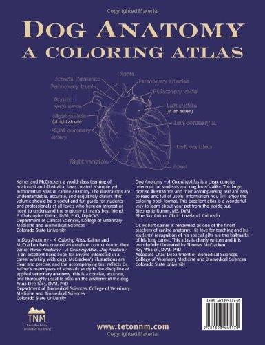 Dog Anatomy: A Coloring Atlas: A Colouring Atlas: Amazon.de: Robert ...