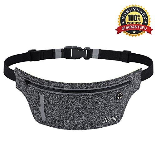 Running Belt Zipper Pockets Water Resistant Reflective for Running Climbing Cycling Hiking Fitness Waist Pack for iPhone iPod Samsung Note Phone Holder Fanny Packs for Women Men Runners Accessories