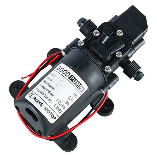 Amarine Made 12V Water Pressure Diaphragm Pump 6.5 L/MIN 1.7 GPM 80W Self Priming RV Booster Sprayer Pump Micropump for Caravan/RV/Boat/Marine