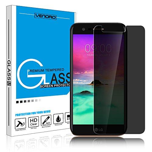 LG Stylo 3 Screen Protector, Venoro 9H Hardness Anti Glare Anti-Scratch  Bubble Free Privacy Anti-Spy Tempered Glass Screen Protector for LG Stylus  3 /