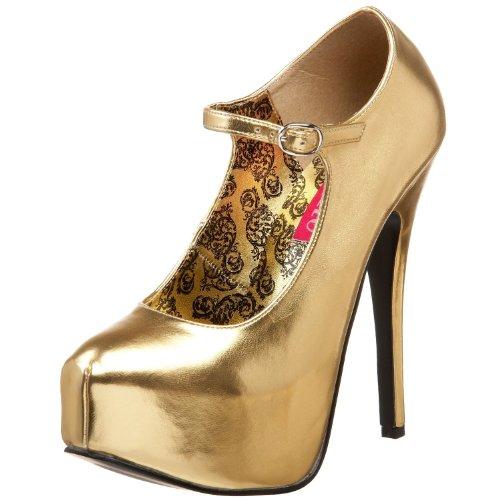 Pleaser Dames Teeze 07 Patentplatform Mary Jane Gold Met Pu
