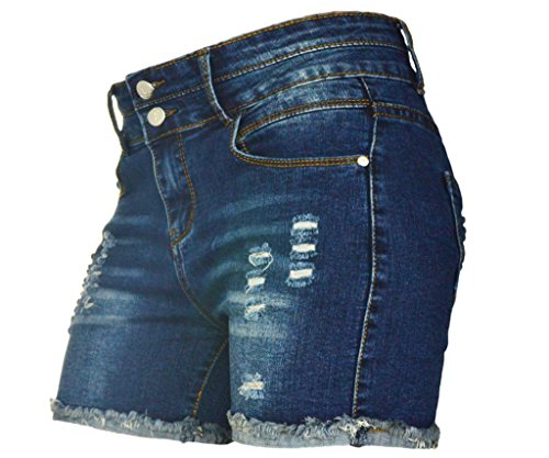 PHOENISING Women's Sexy Stretchy Fabric Hot Pants Distressed Denim Shorts,Size 2-16 by PHOENISING (Image #4)