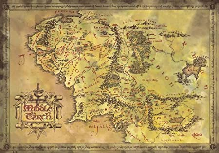 the lord of the rings the hobbit map of middle earth limited edition