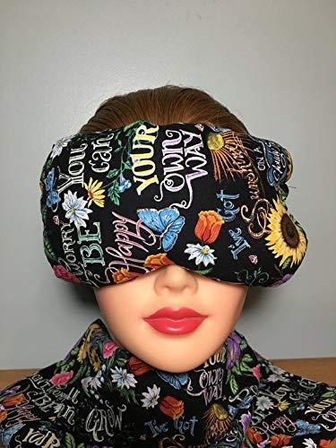 Eye Mask Lavender Eucalyptus, Sinus, Herbal Pack, Hot Cold Pack, Heat Wrap,Organic, Flax Seed, Microwave Therapy, Sleep Mask, Yoga Meditation Eye Pillow, Sunshine Happiness Sunflowers