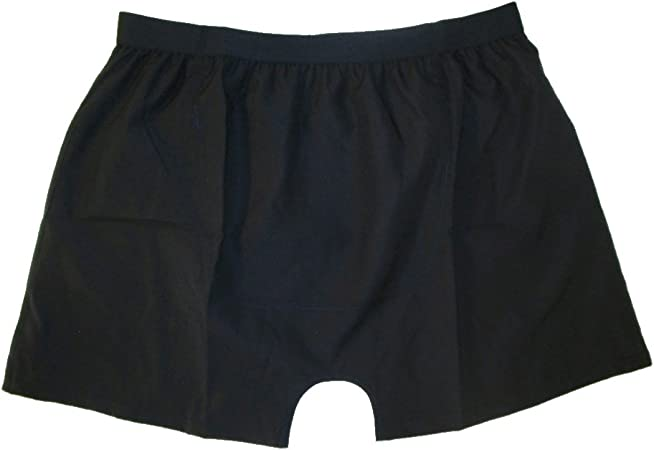 Stashitware Small Black Pocket Underwear, Boxers, with Secret Pocket for Stashing Cash and Cards. (Small/28-30 Waist, Black)