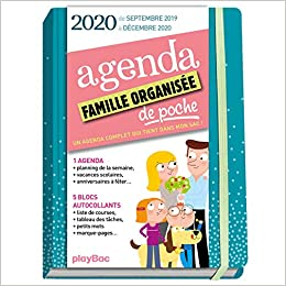 Agenda de poche de la famille organisée 2020 - Bleu de sept ...