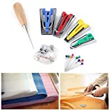 Fabric Bias Tape Maker Kit, 7pcs Binding Tool Guide Strip 6/12/18/25mm Sewing Quilting Bias Tape Maker Set for DIY Patchwork Craft Making Tool
