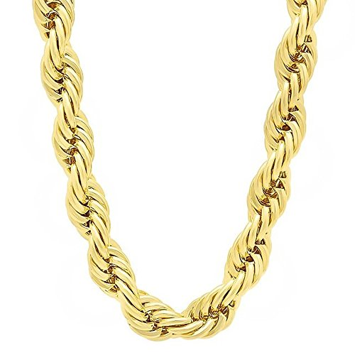 Gold Chain 20mm Rope Necklace Gold Tone Dookie 36 ()
