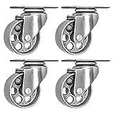 4 All Steel Swivel Plate Caster Wheels Heavy Duty