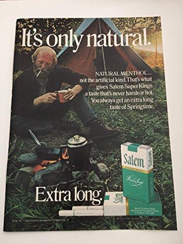 1971 & 1972 Salem Magazine Print Advertisement Lot of 2