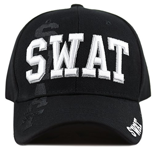 THE HAT DEPOT Law Enforcement Police Officer 3D Embroidered Baseball Cap (SWAT) ()