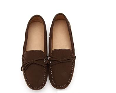 Womens Soft Leather Loafers Shoes Casual Slip-on Comfortable Driving Moccasins Flat Breathable Walking Summer