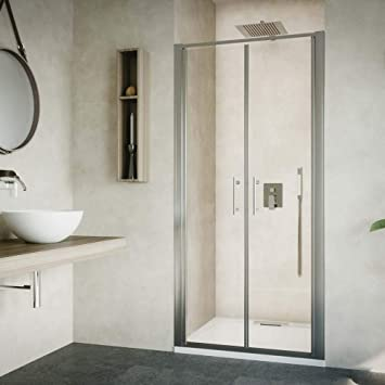 Mampara de ducha con puerta de salón de cristal templado de 6 mm ...