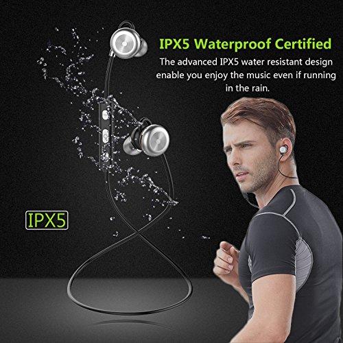 Auriculares Bluetooth, BARA X9 Magnéticos Casco Bluetooth 4.1 Auriculares Deportivos Inalámbricos con Mic, estéreo, CVC 6.0 Cancelación de Ruido Impermeable ...