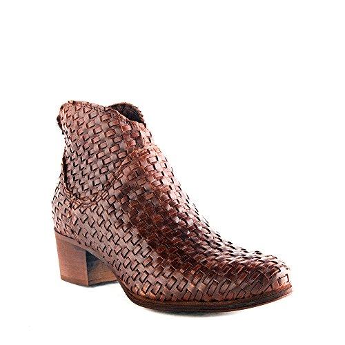 Felmini - Zapatos para Mujer - Enamorarse com Regio 9678 - Botines Cowboy & Biker - Cuero Genuino - Marrón - 0 EU Size Marrón