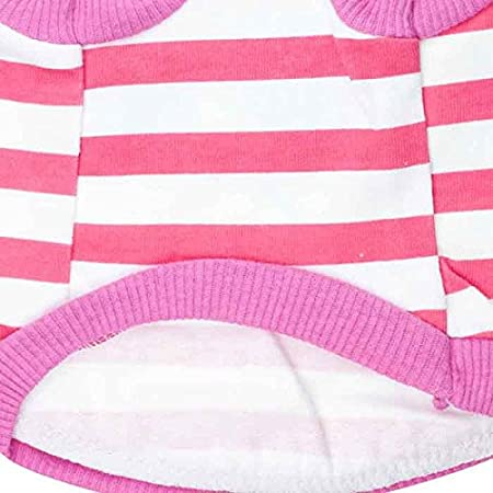 Blue DroolingDog Dog Shirts Striped Vest Cute Eyes Puppy Clothes for Small Dogs Boy Large