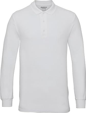 00d4ad70958942 Gildan Mens Premium Cotton Long Sleeve Euro-Fit Double Pique Polo Shirt  S-3XL: Amazon.co.uk: Clothing