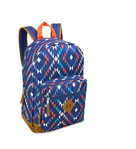 (17.5 Inch Classic Backpack with Reinforced Vinyl Bottom and Comfort Padding (Aztec Shades))