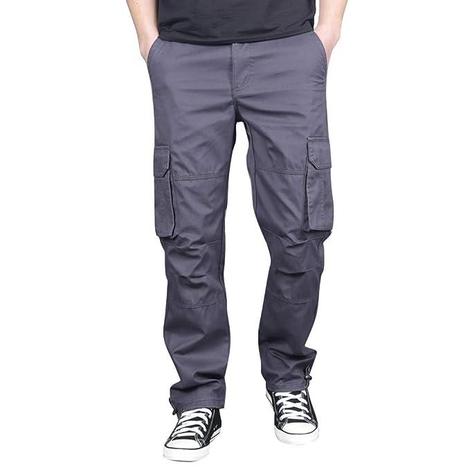 YUTING Pantalones Cargo para Hombre, Pantalones de Trabajo ...