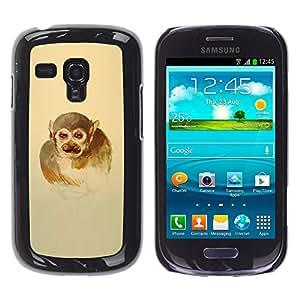 Stuss Case / Funda Carcasa protectora - Naranja del remolino de Hombre - Samsung Galaxy S3 MINI 8190