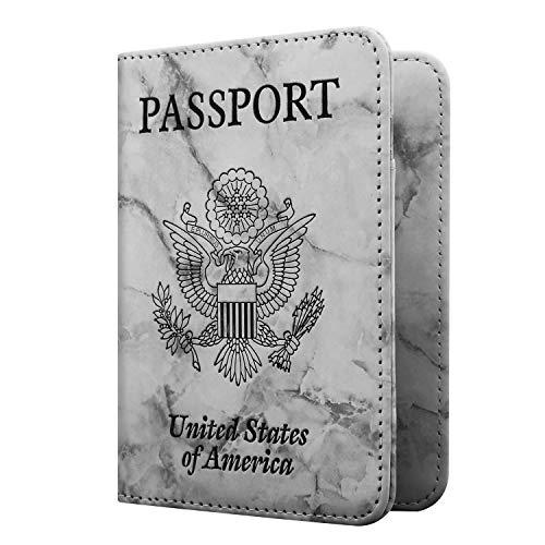Famavala RFID Blocking Case Cover Holder Wallet for Passport (MarbleGray) ()