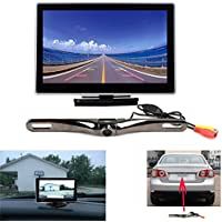 Backup Camera and Monitor Kit for Car, Chuanganzhuo 5 inch High Definition 800(RGB)x480 TFT LCD Monitor +170 degree Wide Angle License Plate Backup Camera
