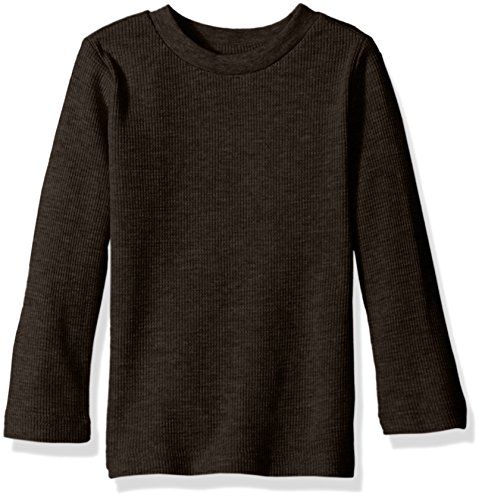Top Long Thermal Sleeve Girls (Limited Too Little Girls' Long Sleeve Thermal Top, Black, 6X)