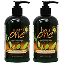 "Hair One Hair Cleanser and Conditioner for Color Treated Hair with Jojoba 355ml / 12oz ""Pack of 2"""