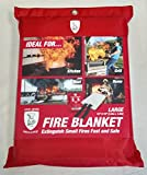 The Grill Armory Fire Blanket Extinguishes Fires in Seconds to Protect Your Home - US Certified (Large)