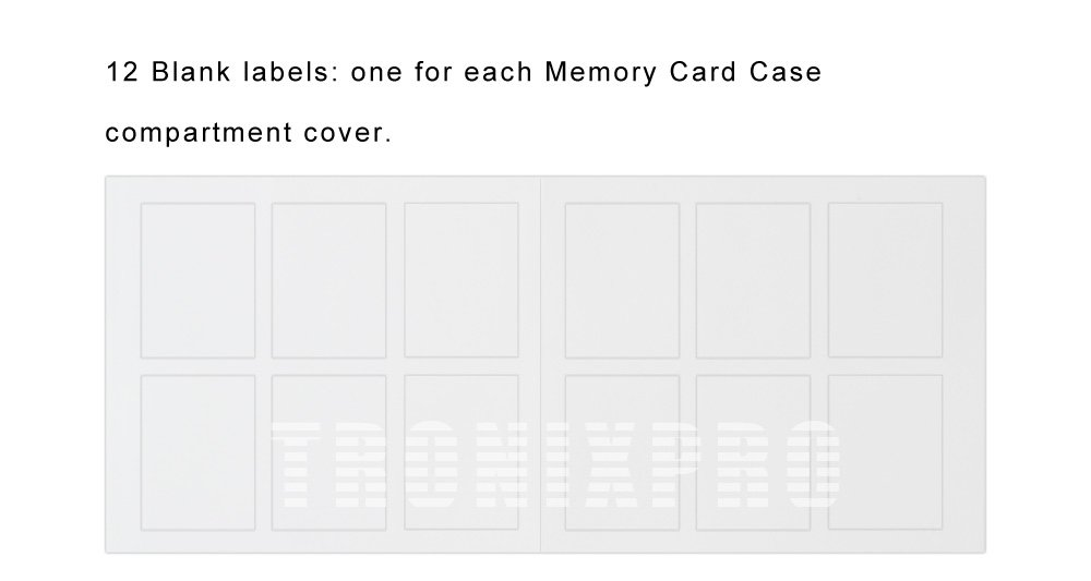 48 Slots, SD/SDHC Memory Card Hard Plastic Cases + Tronixpro