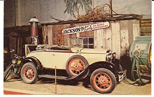 The 1931 Ford Roadster From Bonnie and Clyde Vinatage Post Card